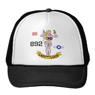 Lady Luck WWII Nose Art Trucker Hats