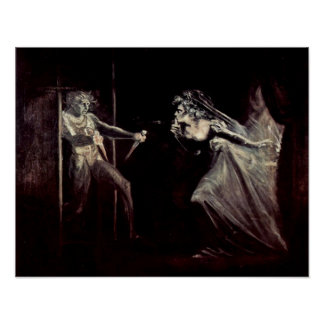 Lady Macbeth receives daggers by Henry Fuseli Poster