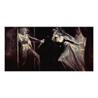 Lady Macbeth Receives The Daggers, Lady Macbeth Ta Photo Card Template