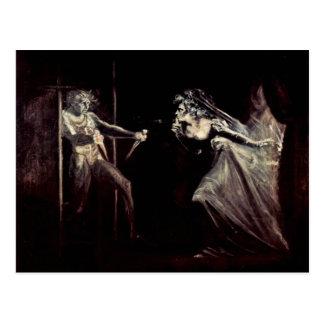 Lady Macbeth Receives The Daggers, Lady Macbeth Ta Postcard