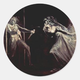 Lady Macbeth Receives The Daggers, Lady Macbeth Ta Round Sticker