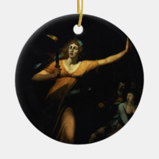 Lady Macbeth Sleepwalking, 1783 (oil on canvas) Christmas Ornament