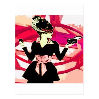 Lady makeup postcard