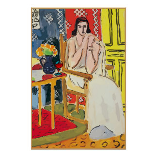 Lady Matisse with Brandy Glass Poster