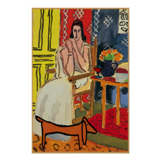 Lady Matisse with Dachshund Poster