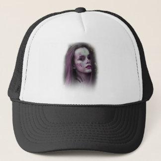 Lady Model Make Up Trucker Hat