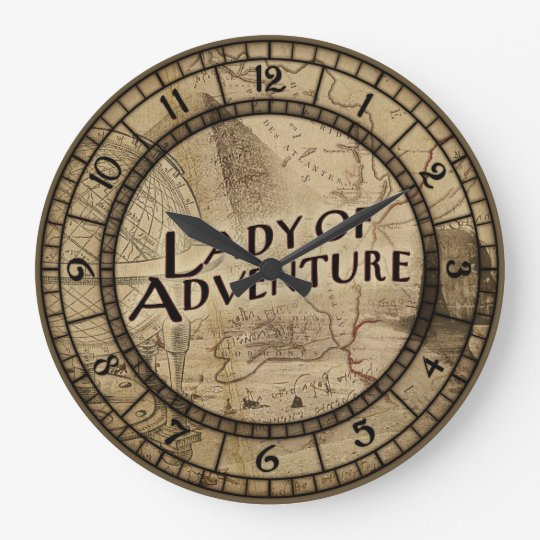 Lady Of Adventure Large Clock
