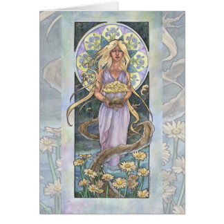 Lady of April Art Nouveau Birthstone Series Card