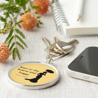 Lady of Ashes Keychain, Rnd Gold, - Keys to Hearse Key Ring