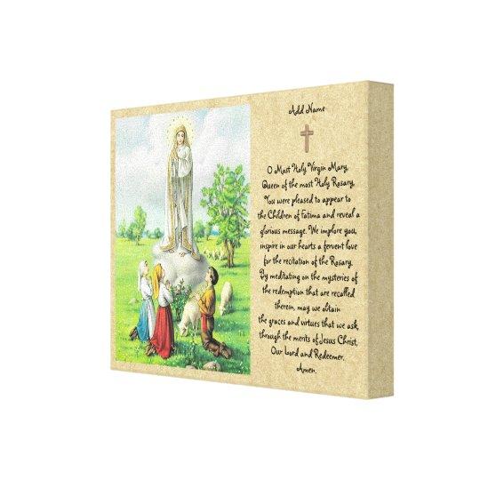 Lady of Fatima Prayer Wall Art Catholic Gift