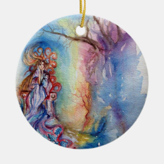 LADY OF LAKE  / Magic and Mystery Double-Sided Ceramic Round Christmas Ornament