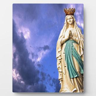 Lady of Lourdes Photo Plaque