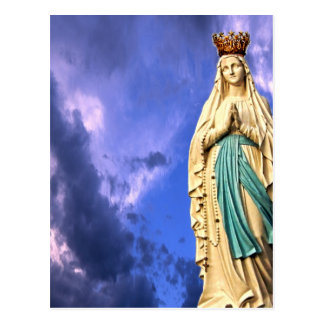 Lady of Lourdes Postcard