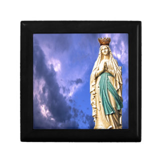 Lady of Lourdes Small Square Gift Box