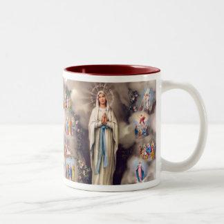 Lady of Lourdes Two-Tone Mug