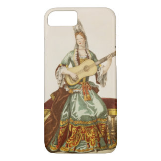 Lady of Quality Playing the Guitar, fashion plate, iPhone 8/7 Case