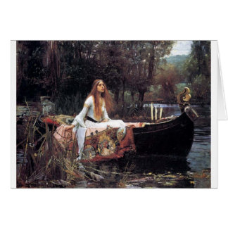 Lady of Shallot antique art painting Greeting Card