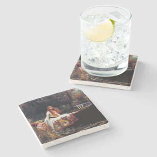Lady Of Shallot Boat Waterhouse Art Stone Coaster
