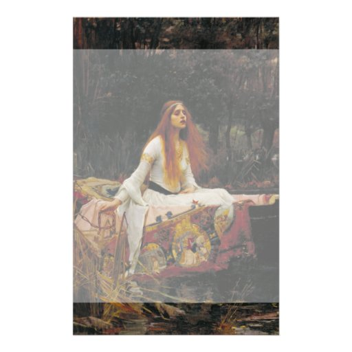 Lady of Shallot by John William Waterhouse Personalized Flyer