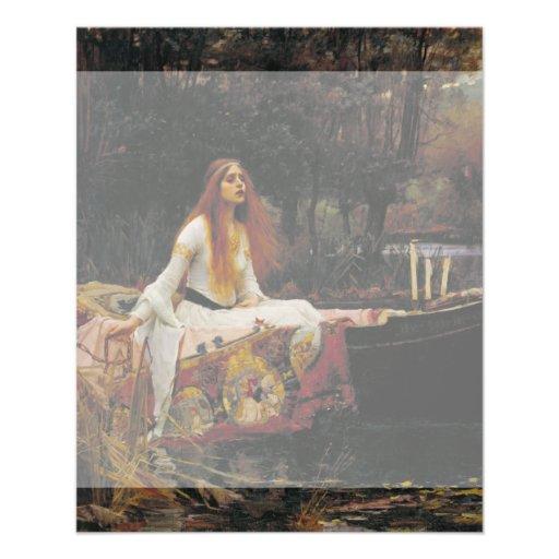 Lady of Shallot by John William Waterhouse Custom Flyer