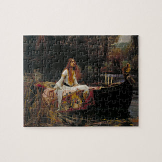 Lady of Shallot by John William Waterhouse Jigsaw Puzzle