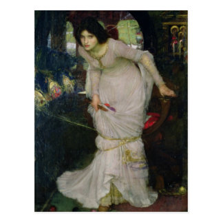 Lady of Shallot by John William Waterhouse Post Cards
