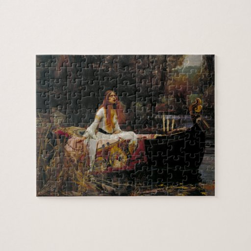 Lady of Shallot by John William Waterhouse Puzzle