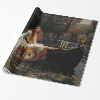 Lady of Shallot by John William Waterhouse Wrapping Paper