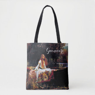 Lady Of Shallot on Boat J.W. Waterhouse Fine Art Tote Bag