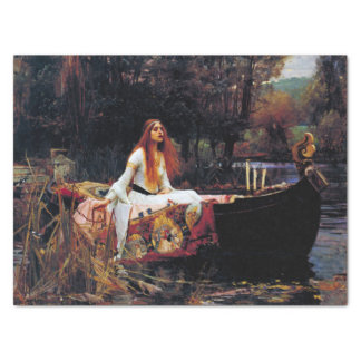 Lady Of Shallot on Boat JW Waterhouse Fine Art Tissue Paper