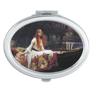Lady Of Shallot on Boat Waterhouse Art Mirror Makeup Mirrors