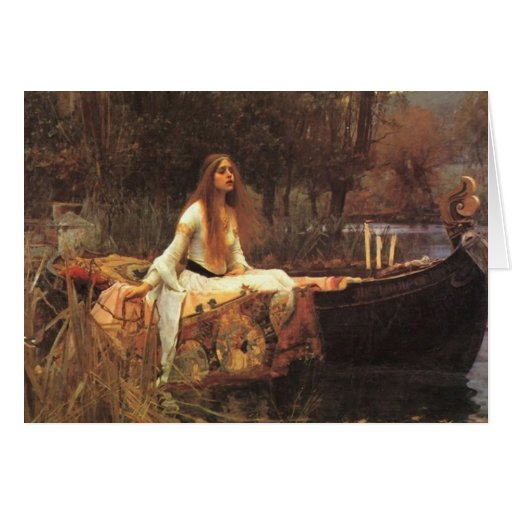 Lady of Shalott by John Waterhouse Greeting Cards