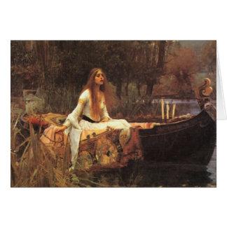 Lady of Shalott by John Waterhouse Greeting Cards