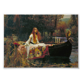 Lady of Shalott in Her Boat Photo Print