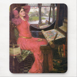 Lady of Shalott Pre-Raphaelite by J. W. Waterhouse Mouse Mat