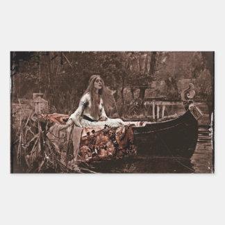 Lady of Shalott Rectangular Sticker