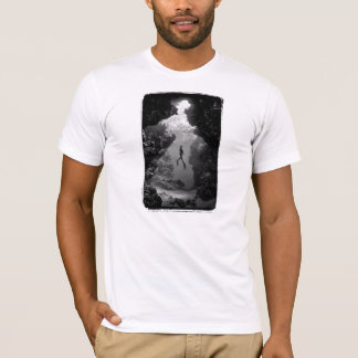 Lady Of The Deep - Fitted Organic. Eggshell (Mens) T-Shirt
