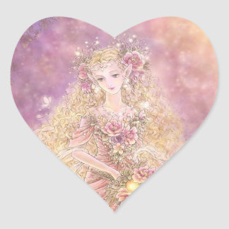 Lady of the Forest Heart Sticker