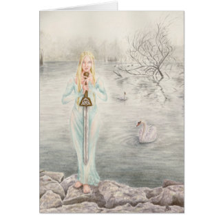 Lady of the Lake by Deanna Bach Art Greeting Card