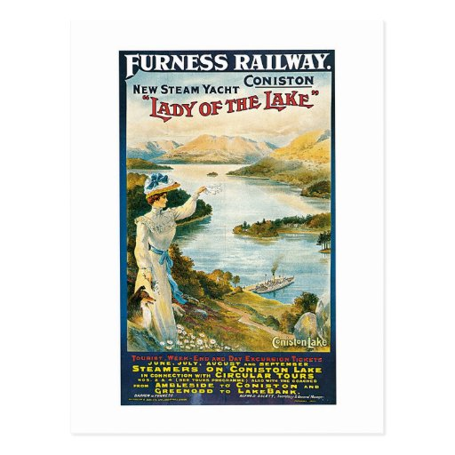 Lady of the Lake ~ Furness Railway Post Card