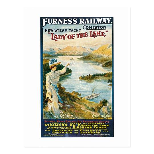 Lady of the Lake ~ Furness Railway Postcard