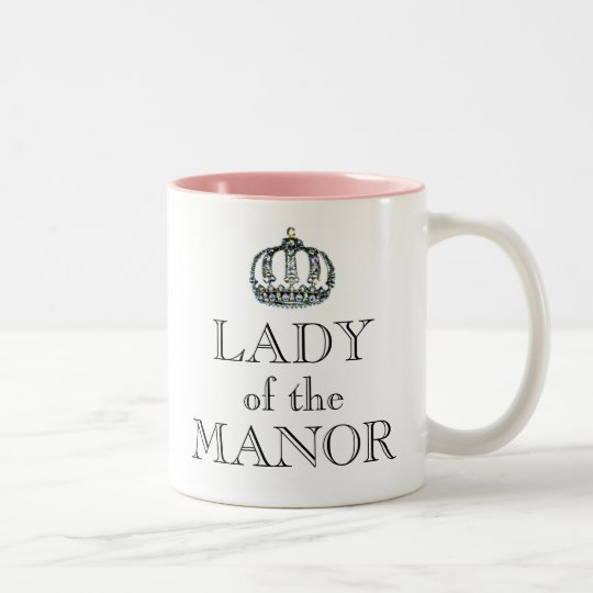 Lady of the Manor Two-Tone Coffee Mug