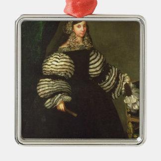 Lady of the Medinaceli family, c.1683 Christmas Ornament