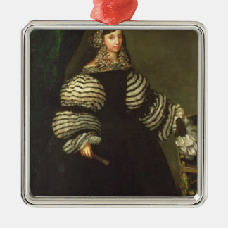 Lady of the Medinaceli family, c.1683 Silver-Colored Square Decoration