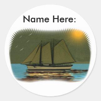 Lady Of The Mist Round Sticker