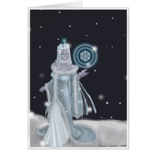 Lady of the Snow Holiday Card