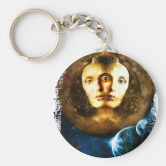 Lady Of Universe Star Fantasy Cosmos Basic Round Button Key Ring