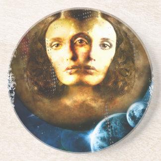 Lady Of Universe Star Fantasy Cosmos Sandstone Coaster