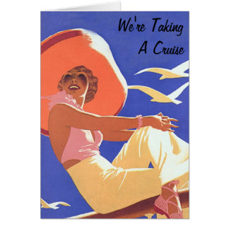 Lady On a Cruise Greeting Card
