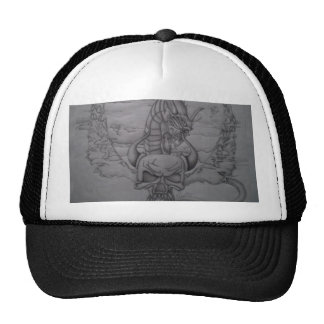 Lady on the rock,Brick road Mesh Hat